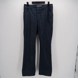 Chico's Platinum Denim Blue Boot Cut Jeans Size 0